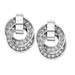 Michael Kors Brilliant Pavé Interlocking Earrings